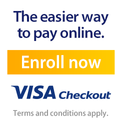 VISA Checkout the Easier way to pay online. Enroll Now. Terms and conditions apply.